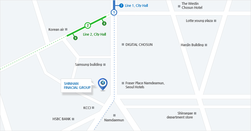 Location | About Us | SHINHAN FINANCIAL GROUP